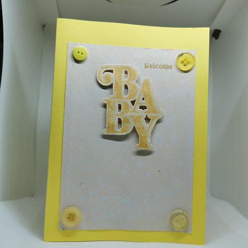 Welcome Baby light yellow