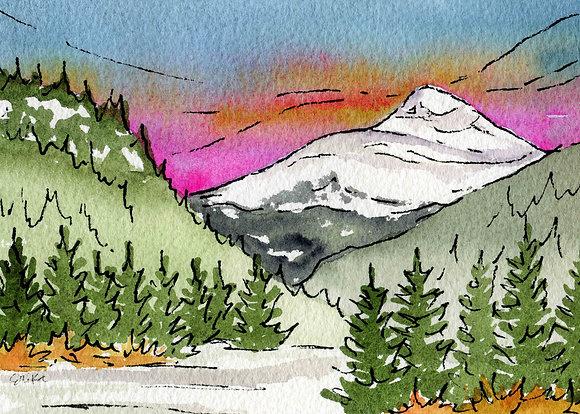 Sunrise Over Mt. Baldy