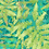 hothouse palm tropical foliage repeat print pattern for fashion textiles  aqua blue and lime