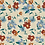 Vanilla ground allover originalprint repeat pattern with textured floral motifs for fashion textiles