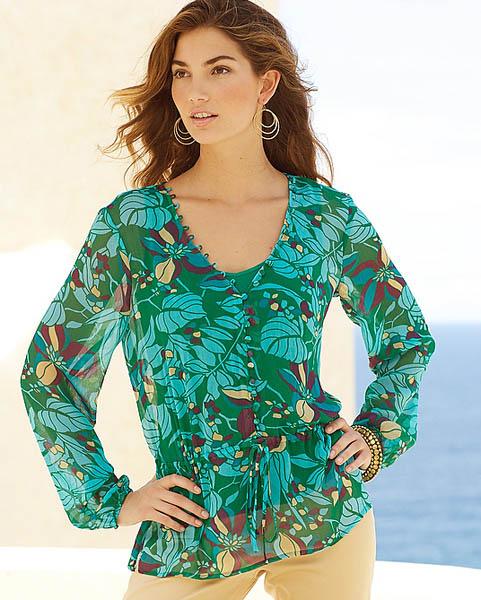 amazon print blouse 1SM