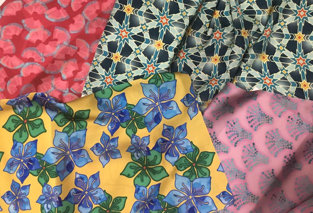 Polychrome original print patterns for fashion textiles