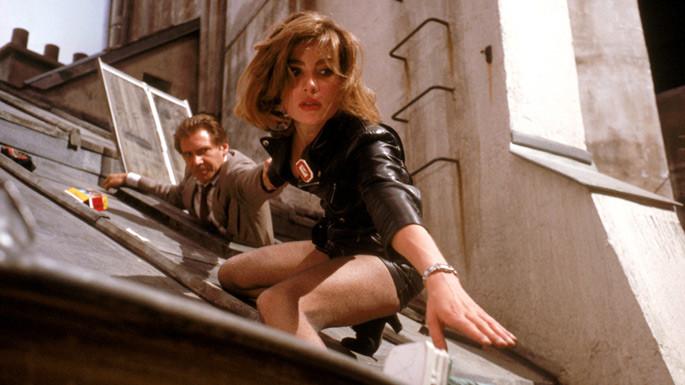 rooftop scene in thriller film Frantic