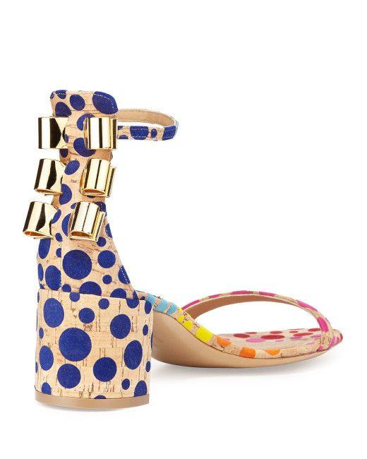Cork and metal sandal