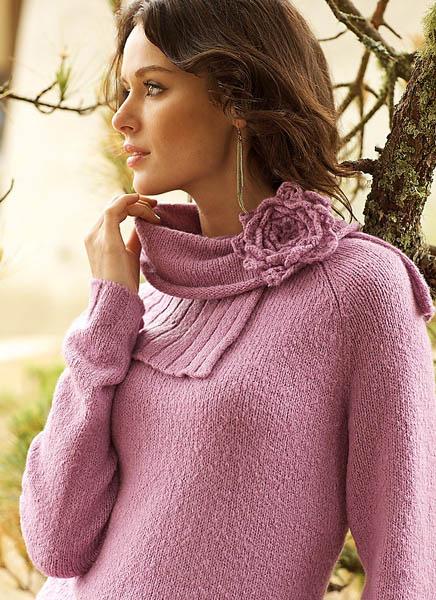 crochet flower pullover 5SM