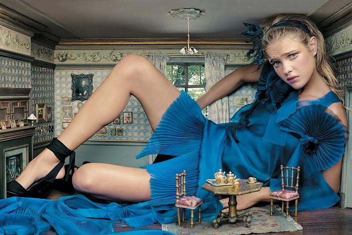 Alice in Wonderland fashion editorial by Annie Leibovitz for Disney Dream portrait series