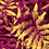 hothouse palm tropical foliage repeat print pattern for fashion textiles red and ochre