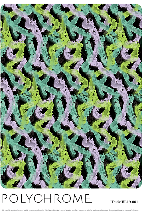 Black ground abstract repeat print pattern for fashion textiles perfect for activewear and athleisure