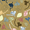 Ochre ground floral leaves print pattern repeat for fashion textiles and apparel