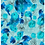 painterly abstract repeat print pattern in various shades of blue