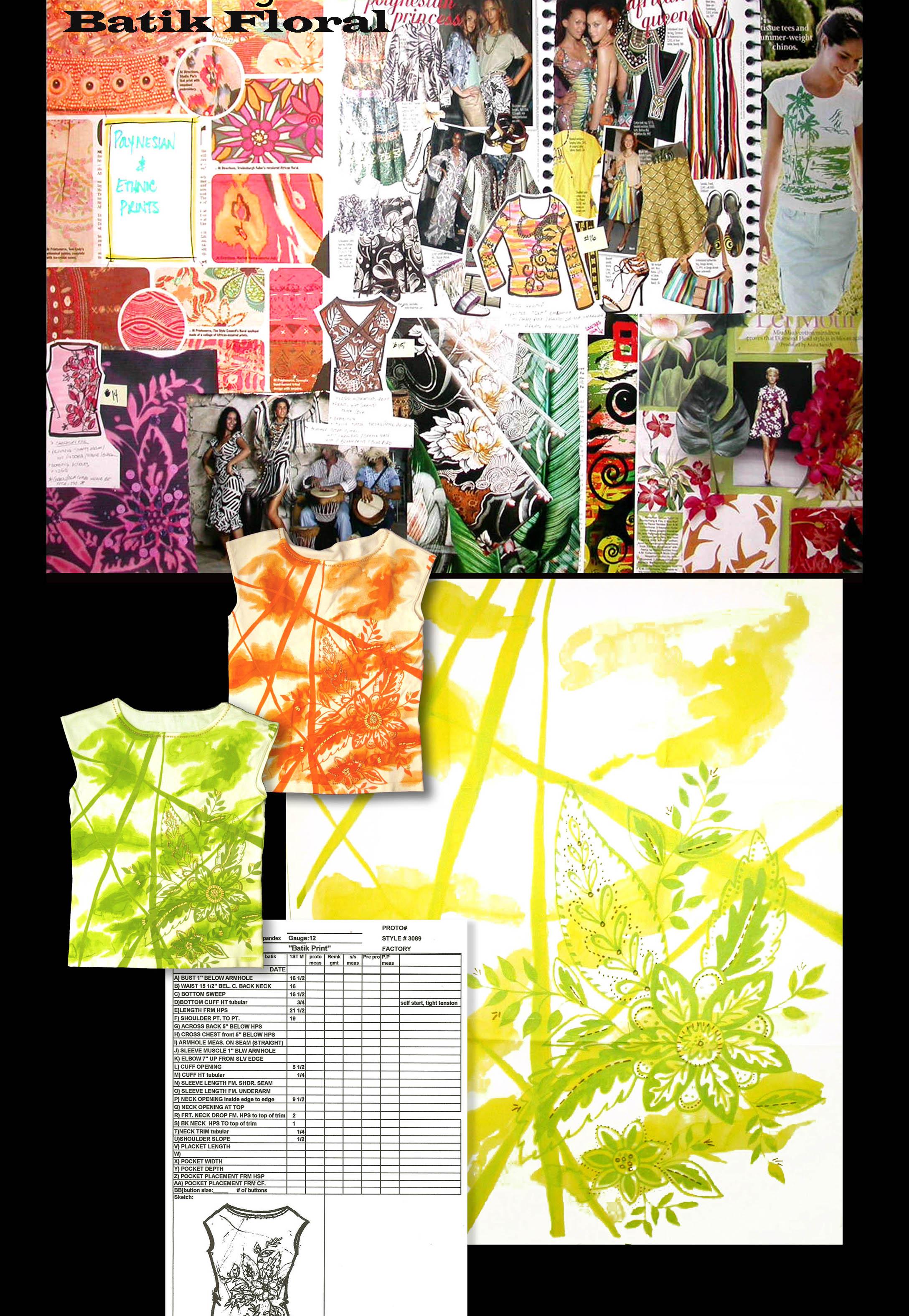 Batik Print SweaterT REV