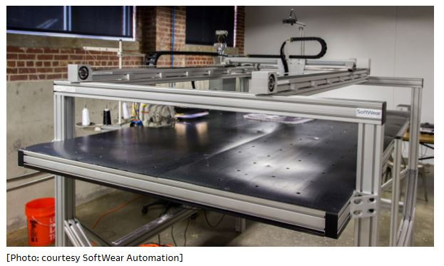 SoftWear machine for automated apparel production