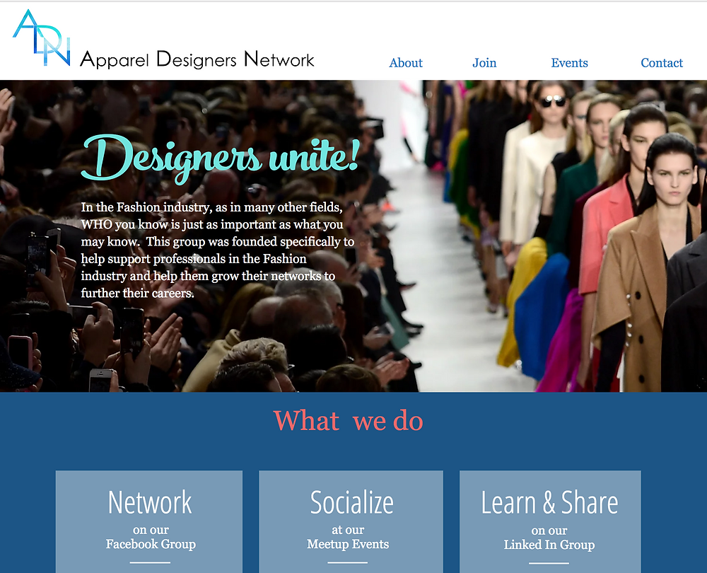 the Apparel Designers Network connecting professionals in the fashion industry