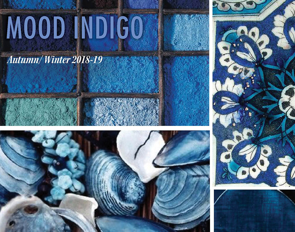 Fashion trend Mood Indigo for Fall Winter Autumn 2018 2019