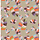 Monster Leaves - allover original print repeat pattern with multicolored tropical foliage motifs.