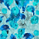 blue painterly abstract repeat print pattern for fashion textiles