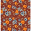 Brick red ground allover originalprint repeat pattern with textured floral motifs for fashion textiles