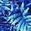 hothouse palm tropical foliage repeat print pattern for fashion textiles royal blue