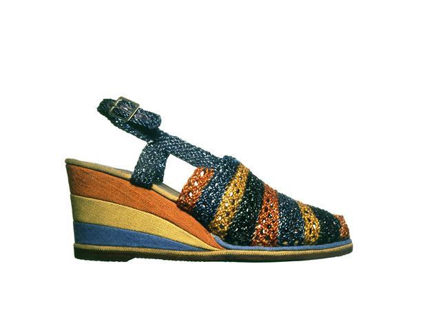 crochet wedge sandal