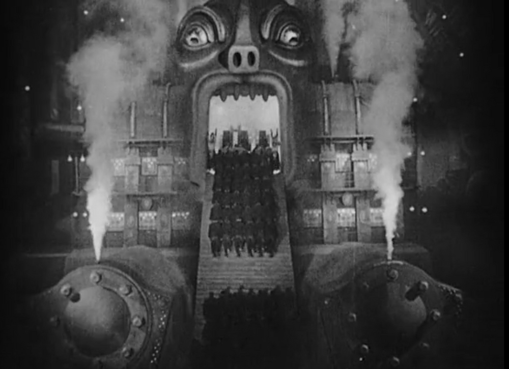 the Moloch machine in the film Metropolis