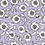 Lilac purple ground with black & white floral motifs