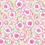Lime green ground with hot pink & white floral motifs