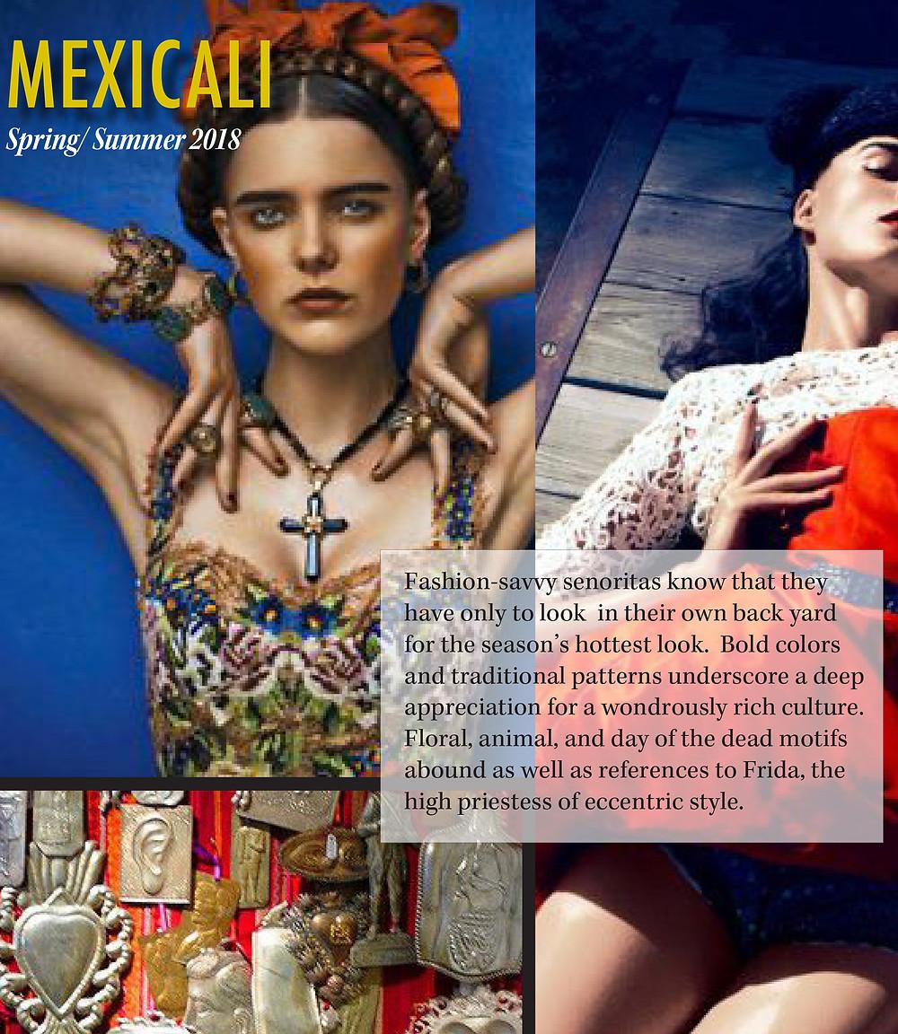 Mexicali moodboard Fashion trend spring summer 2018