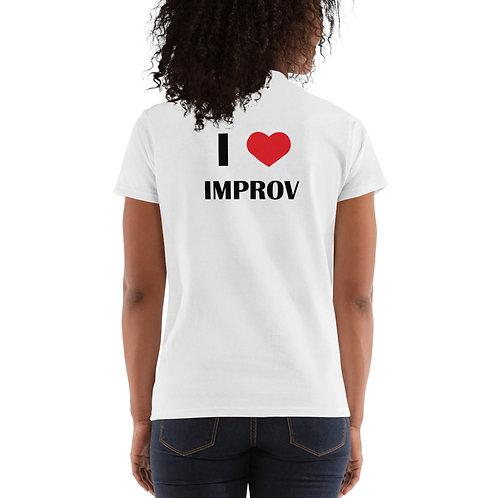 Ladies' I Heart Improv - White