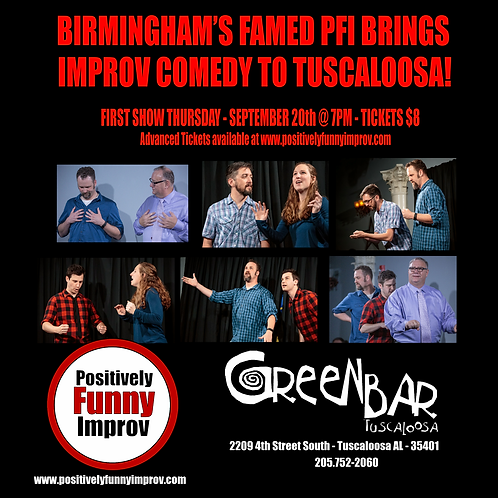 Show Tickets PFI @ Green Bar Sept 20th 2018 @ 7pm