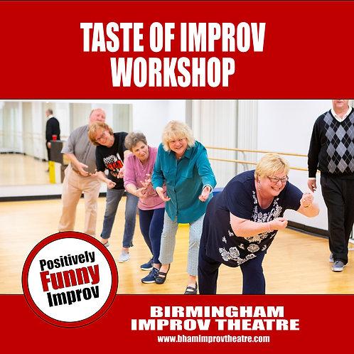 Taste of Improv Workshop: Benefits and Basics