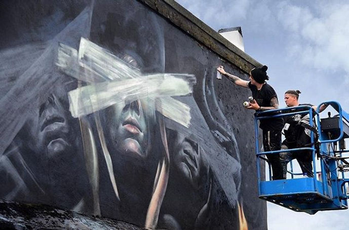 Nomad clan, street art, shoreditch street art, mural, street art mural,