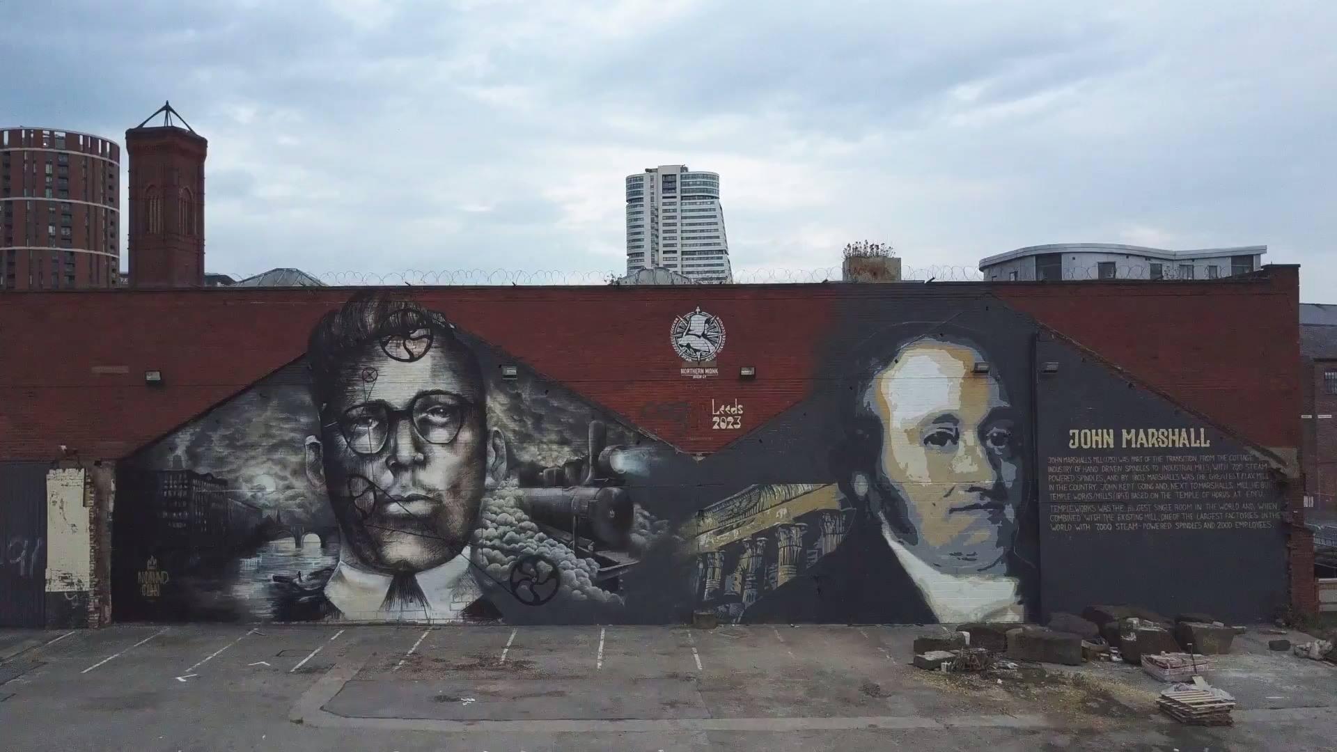 'True North' Nomad Clan x Tankpetrol Mural, Leeds UK.