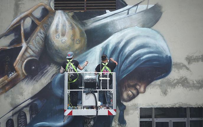 Nomad Clan, street art, graffiti, urban art,