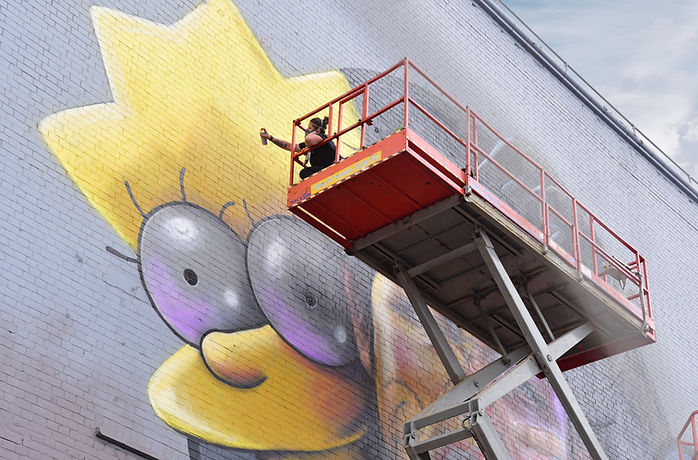 The simpsons, nomad clan,  upfest, lisa simpson graffiti, #bemorelisa, lisa simpson, street art, the simpsons graffiti, street art bristol, upfest simpsons,