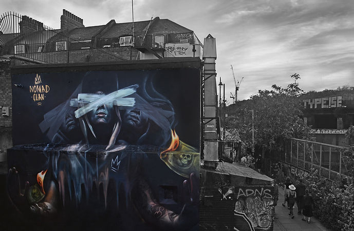 Nomad Clan, street art, meeting of styles, shoreditch street art