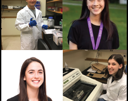 Four undergraduates join the lab for 2018-2019