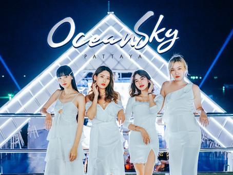 Oceansky Pattaya รูฟท็อบบาร์กลางเรือหรู