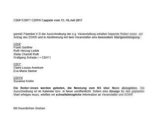Nachtrag: Titolas erhält in Cappeln einzigen Startplatz für Deutschland im CDIYH