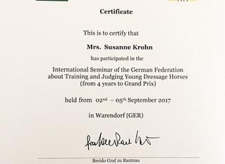 Internationale Richterfortbildung des DOKR / FN über das richten und trainieren von jungen Dressurpf