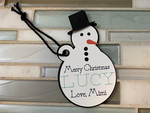 Day #2 Snowman Tag