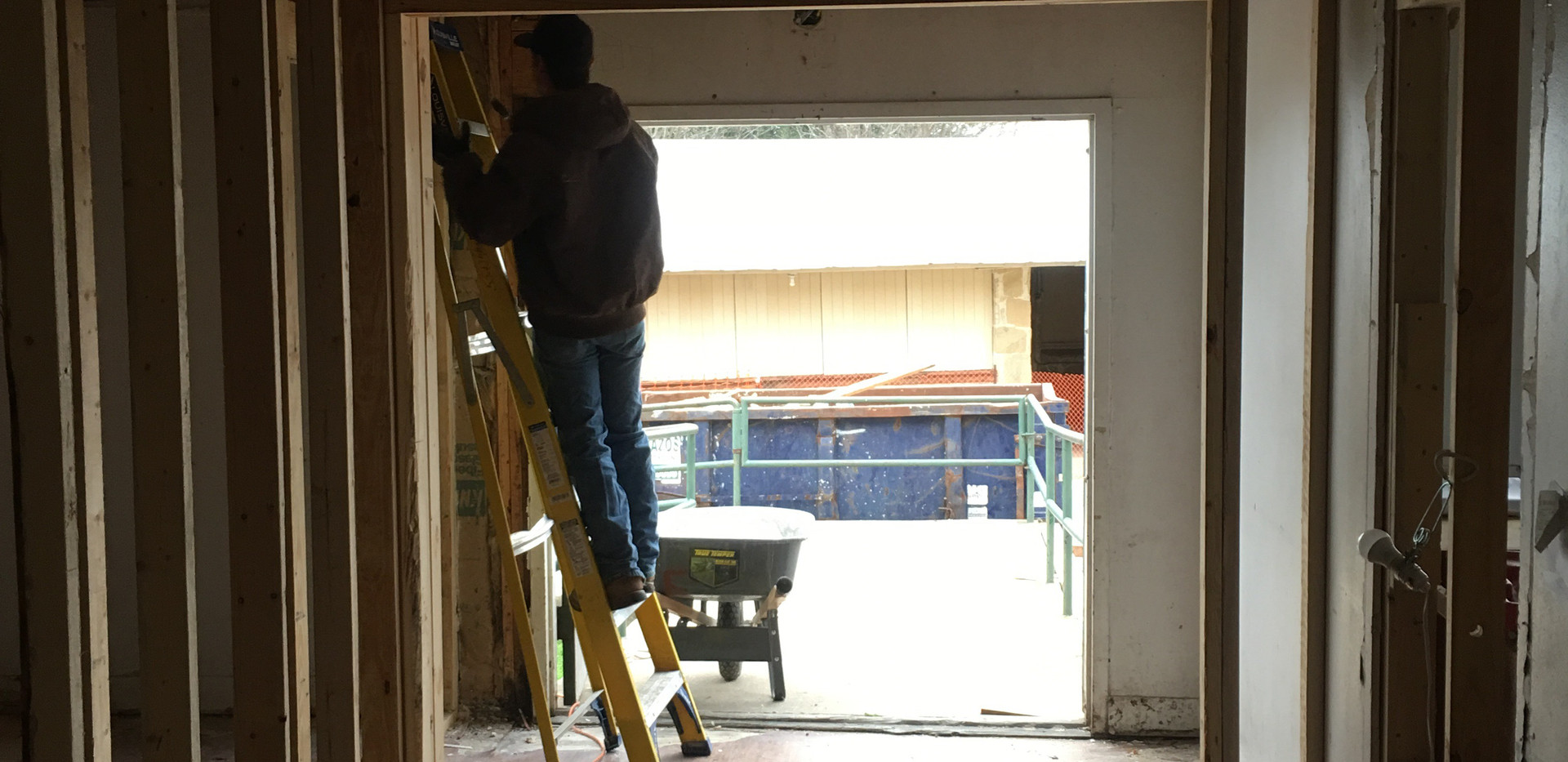 Framing the women's restroom- December 2