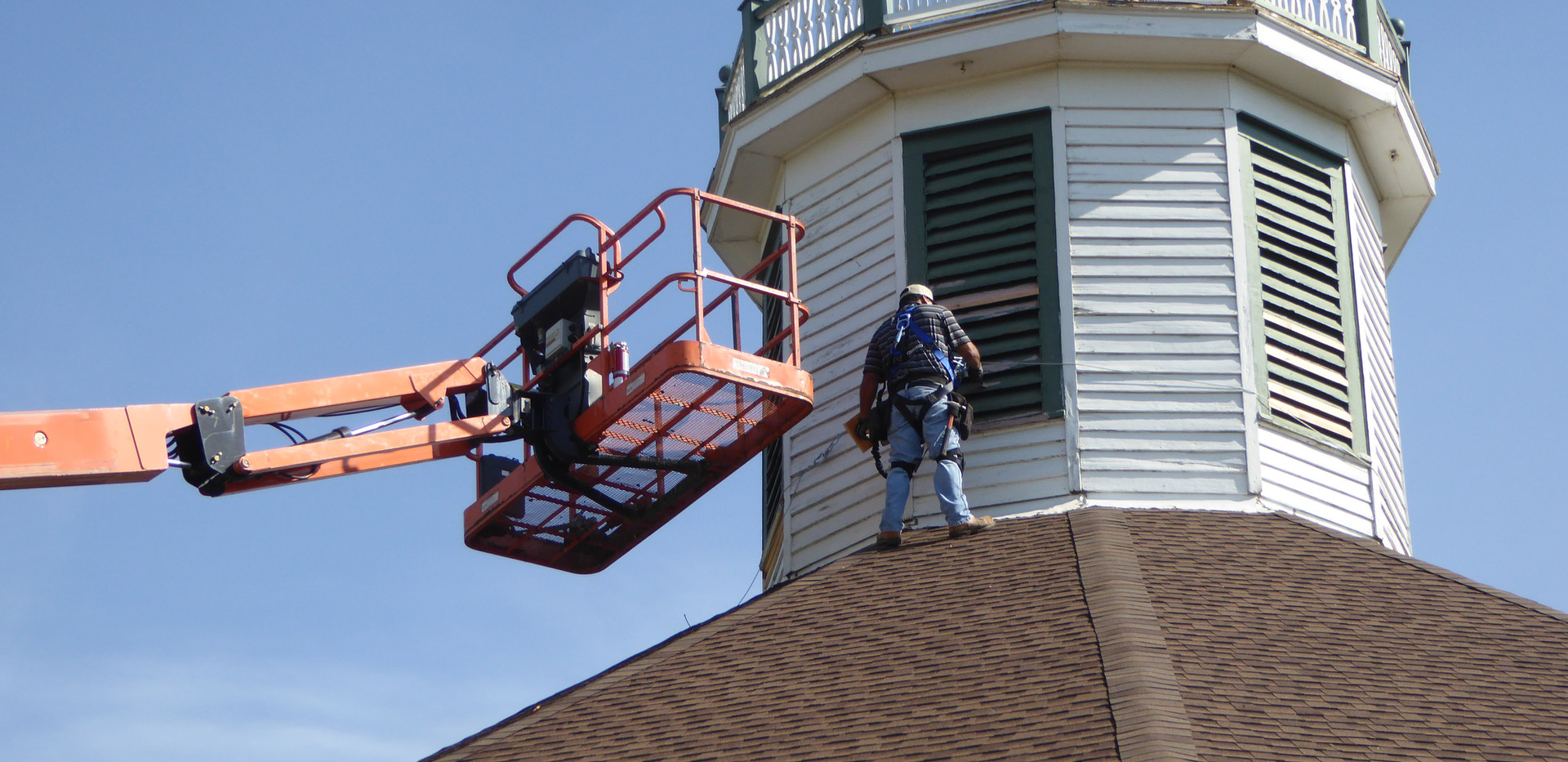 Cupola Being Painted.JPG