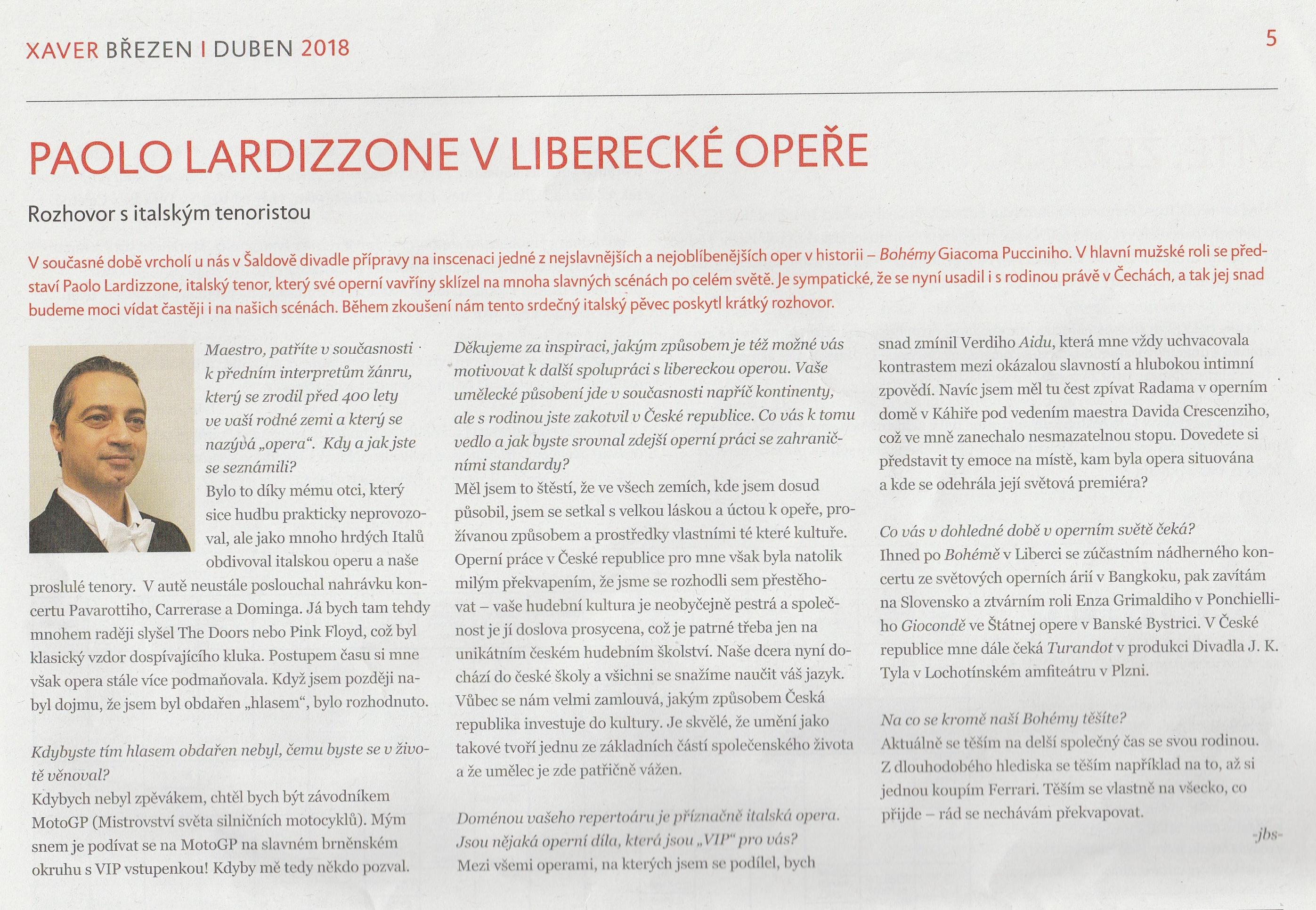 Intervista D.F.X.Š Liberec