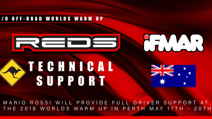 Reds Racing Support at the Worlds Warm up!