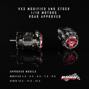 REDS VX3 1/10 Motors ROAR Approved!