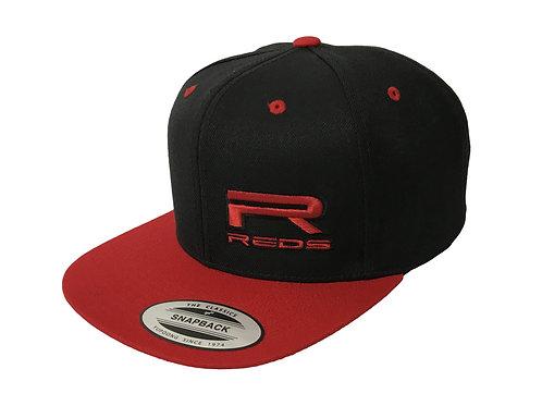 REDS HAT FLEXFIT SNAPBACK BLACK-RED