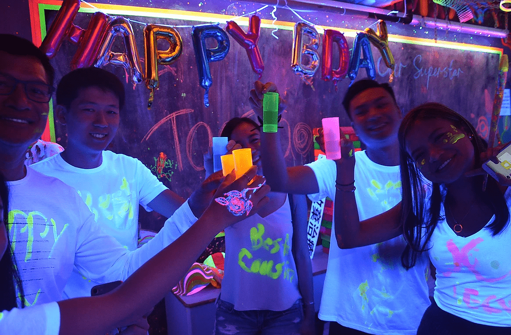 Glowing Blacklight Party
