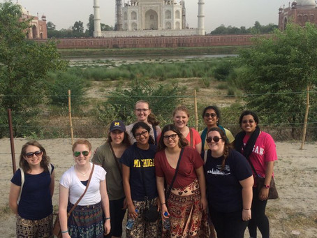 Our First Glimpse at the Taj