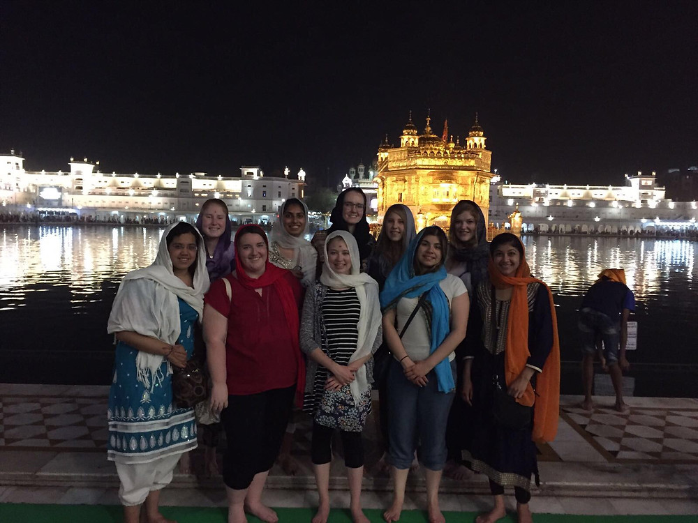 Our group at the Golden Temple