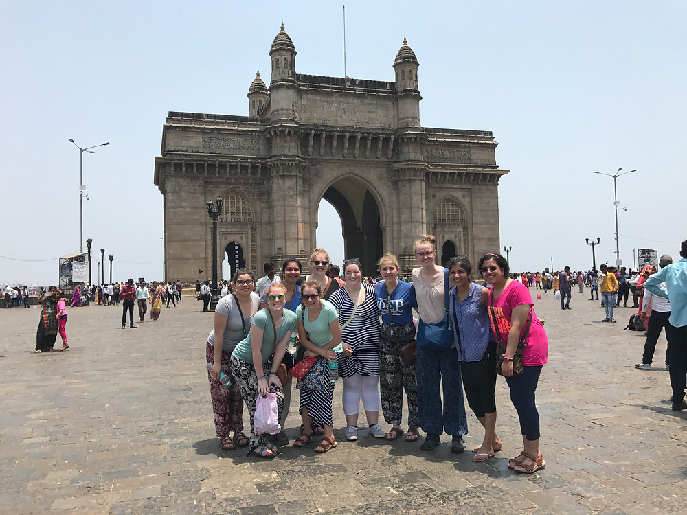The entire group at the Gateway of India